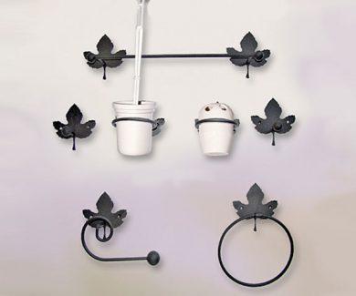 Accesorios de baño en forja